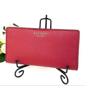 Kate♠️Spade LG Slim Bifolder Wallet Cameron Red